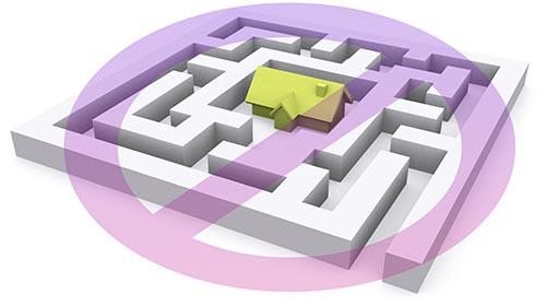 Complex website navigation bad information hierarchy model
